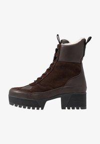 Shoe The Bear - CELESTE HIKE - Platåstövletter - brown - 1