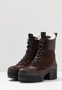 Shoe The Bear - CELESTE HIKE - Platåstövletter - brown - 4