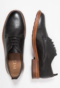 Shoe The Bear - NATE  - Elegantní šněrovací boty - black - 1