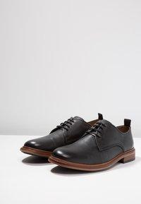 Shoe The Bear - NATE  - Elegantní šněrovací boty - black - 2