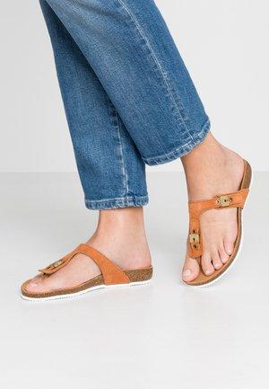 BIMINI  - T-bar sandals - camel