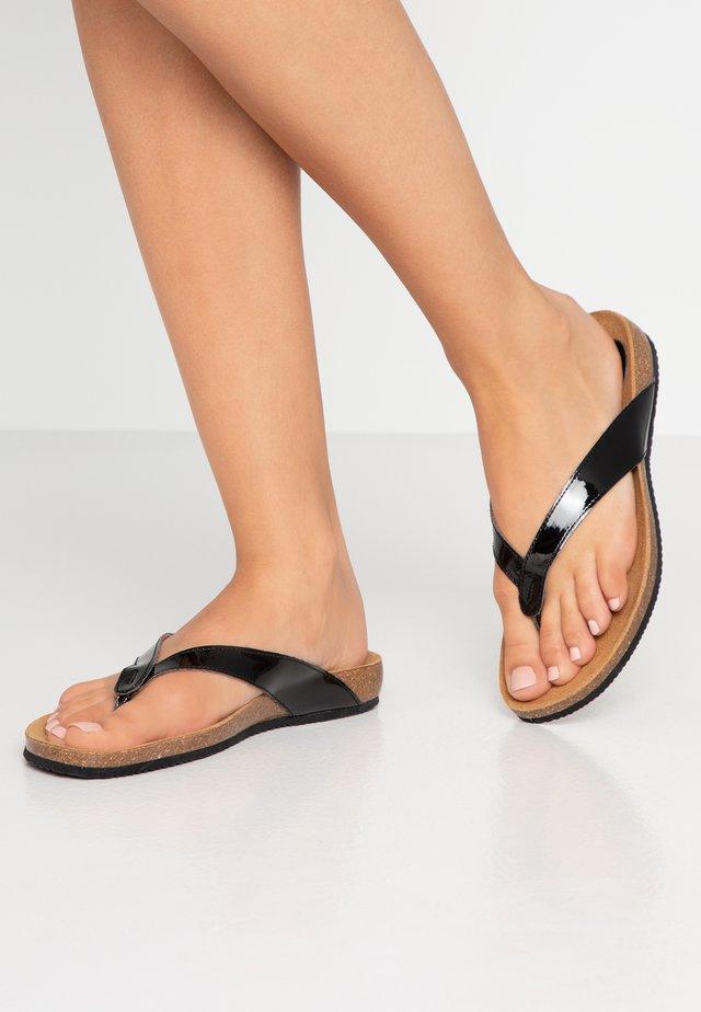 TIST - Sandaler m/ tåsplit - black