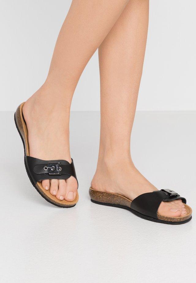 BAHAMAIS - Pantolette flach - noir