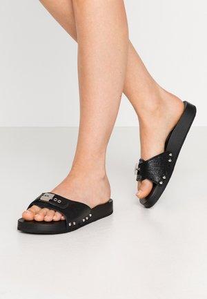 TARA - Pantolette flach - noir