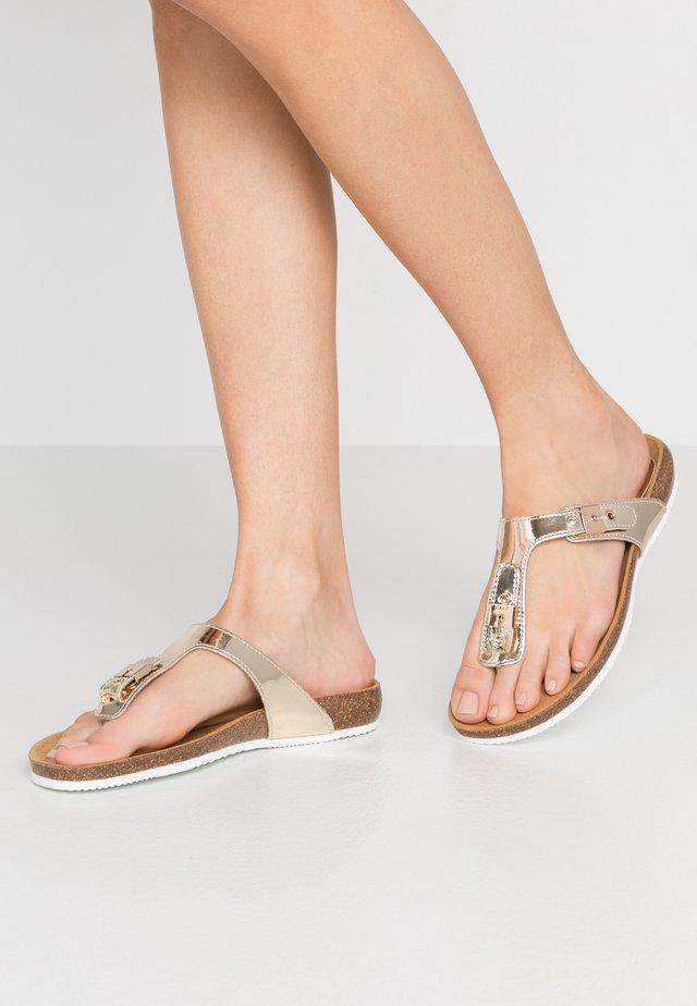 BIMINOIS - T-bar sandals - or
