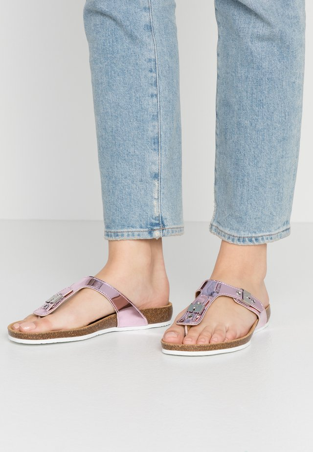 BIMINOIS - T-bar sandals - rose