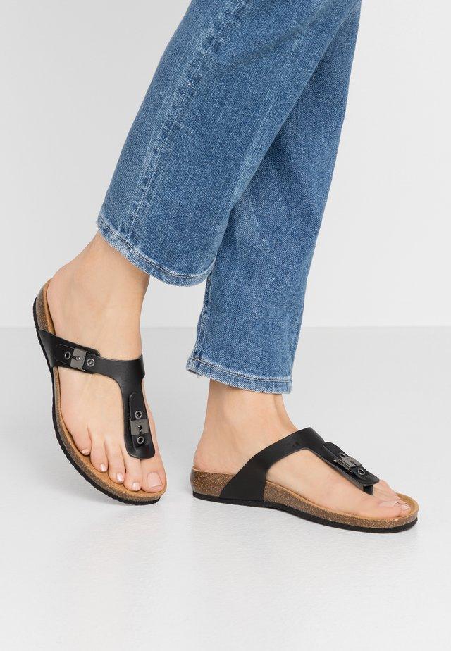 BIMINOIS - T-bar sandals - noir