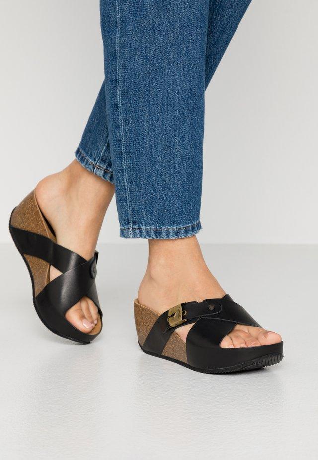 ELANAIS - Pantolette hoch - noir