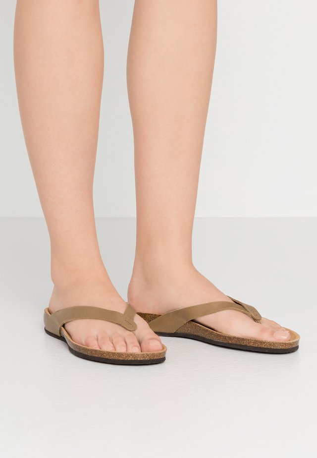 TISTOIS - T-bar sandals - kaki