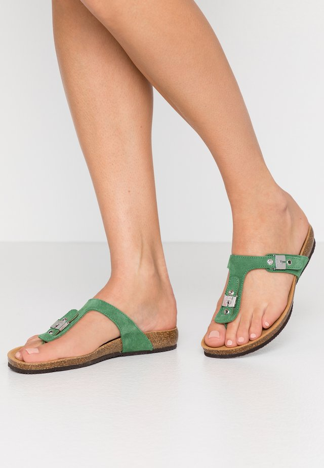 BIMINOIS - T-bar sandals - vert