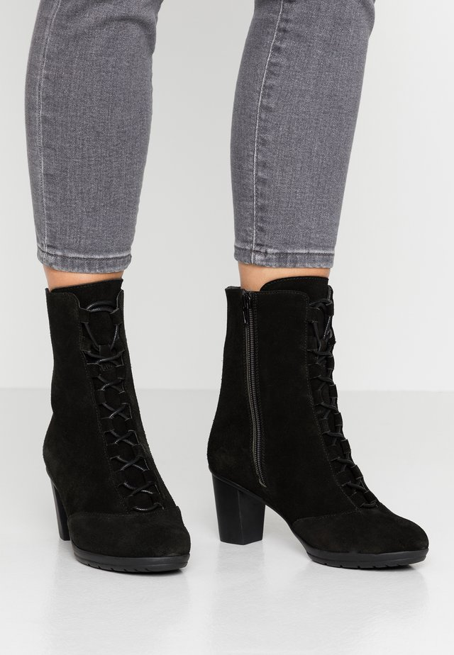 MORES - Lace-up ankle boots - black