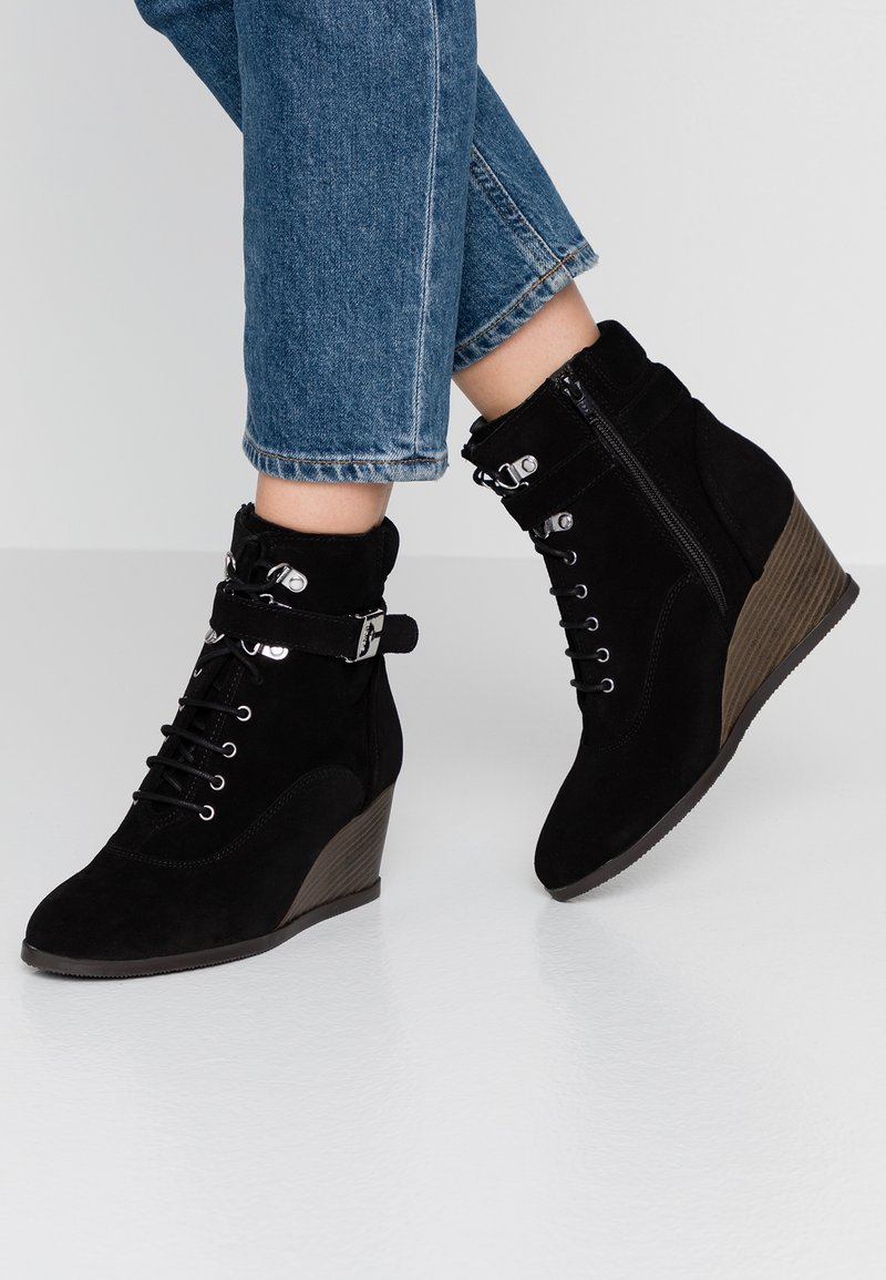 Scholl - LIDEAN  - Wedge Ankle Boots - black