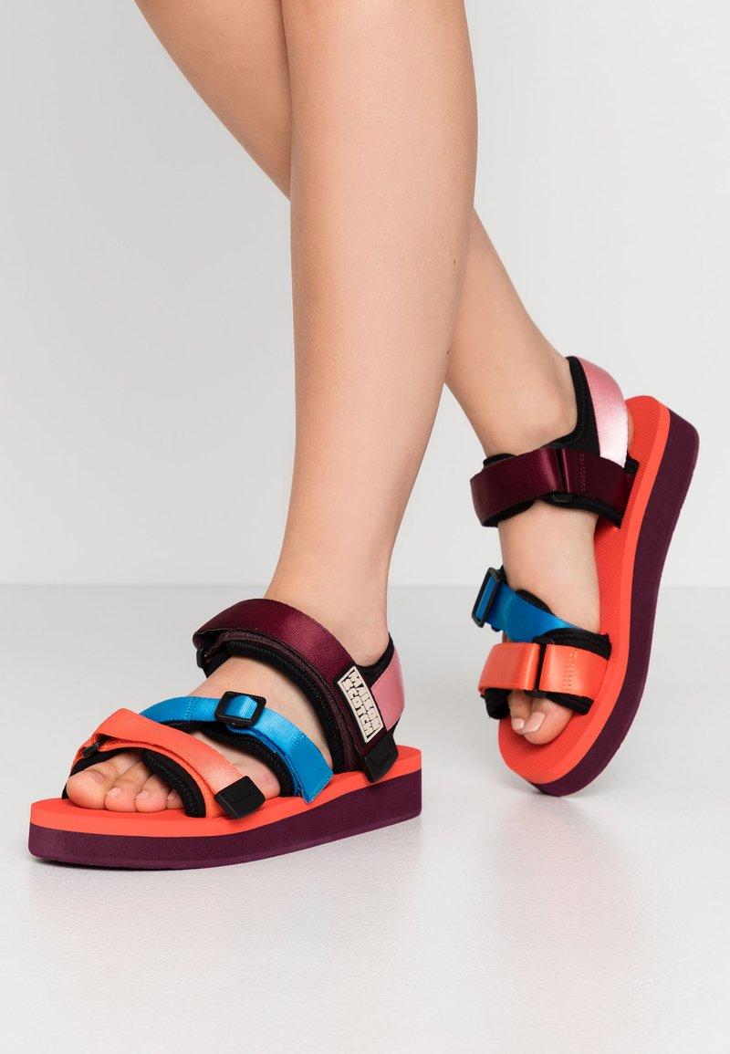Scotch & Soda - LYDIA SPORT - Platform sandals - coral/multicolor