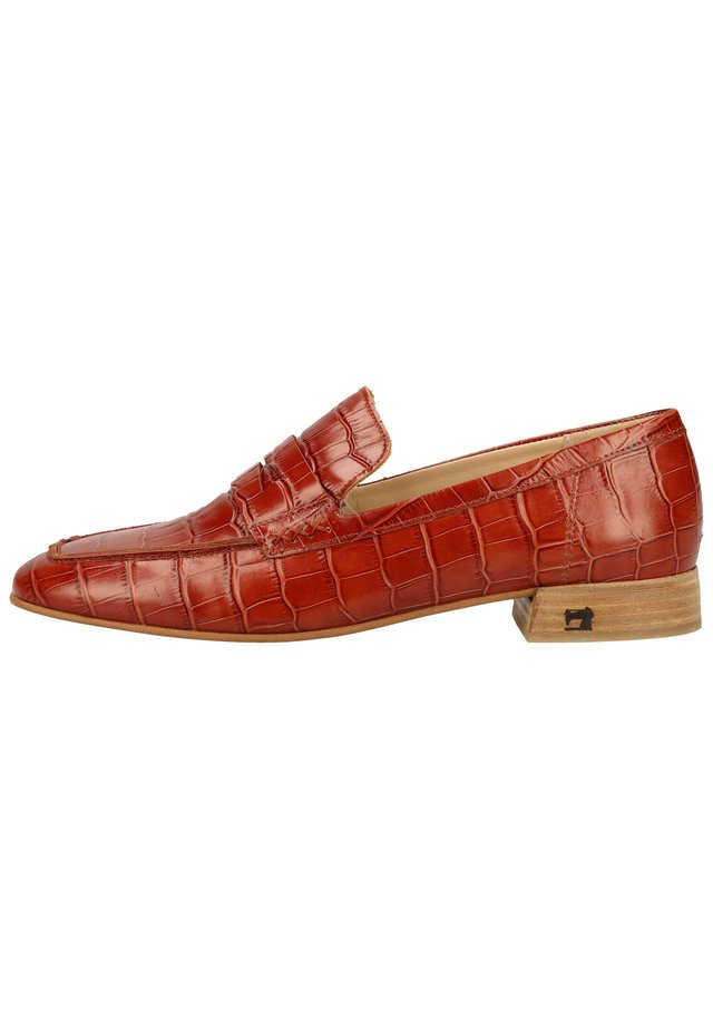 Slipper - cognac croco optic s457
