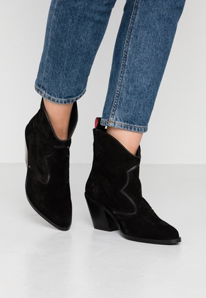 ABBEY MID BOOT - Cowboystøvletter - black