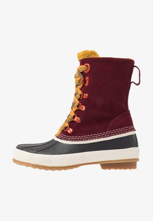 PATTI MID LACE BOOT - Lace-up ankle boots - bordo