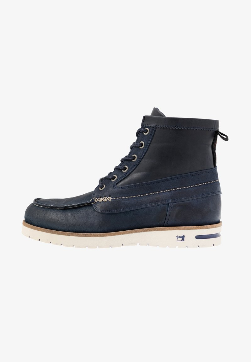 Scotch & Soda - LEVANT MID LACE BOOT - Lace-up ankle boots - marine