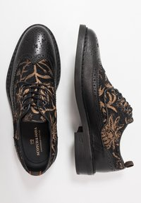Scotch & Soda - MERAPI LOW LACE SHOES - Oksfordki - black/green - 1