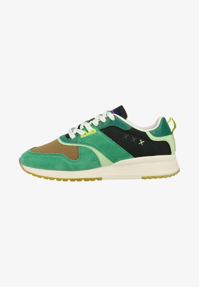 Sneakers laag - buttergreen s724