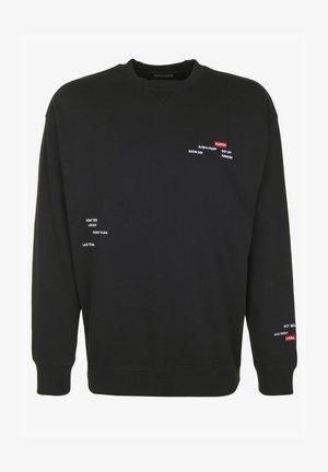 MIT STICKEREIEN - Sweater - black