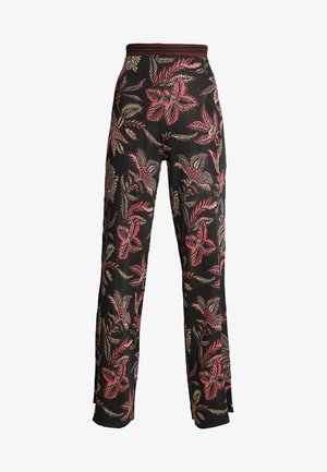 WIDE LEG PANTS IN TROPICAL PALM PATTERN - Kalhoty - combo