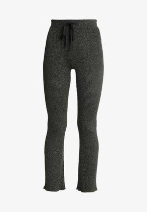 FLARE LEG PANTS - Pantalon classique - dark green