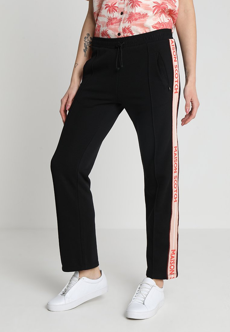 Scotch & Soda - PANTS WITH TAPE DETAIL AT SIDES - Teplákové kalhoty - black