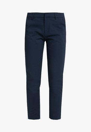 MIT KONTRAST SEITENBLENDE - Pantalon classique - navy