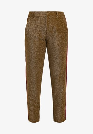 TAPERED PANTS WITH SIDE PANEL - Trousers - olive