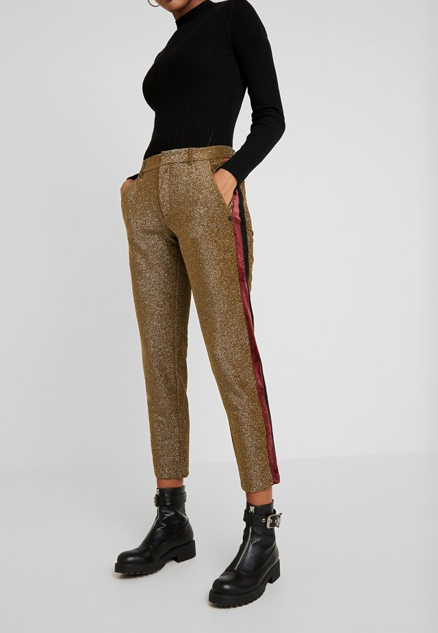 TAPERED PANTS WITH SIDE PANEL - Stoffhose - olive