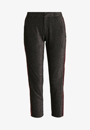 TAPERED PANTS WITH SIDE PANEL - Kalhoty - black