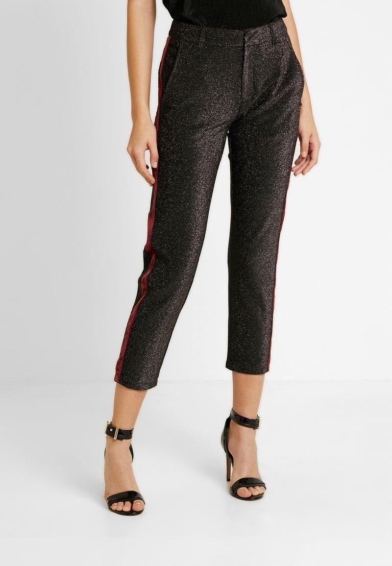 Scotch & Soda - TAPERED PANTS WITH SIDE PANEL - Kalhoty - black