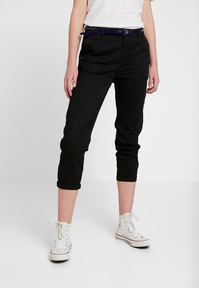 IN STRETCH WITH BELT - Chino - black