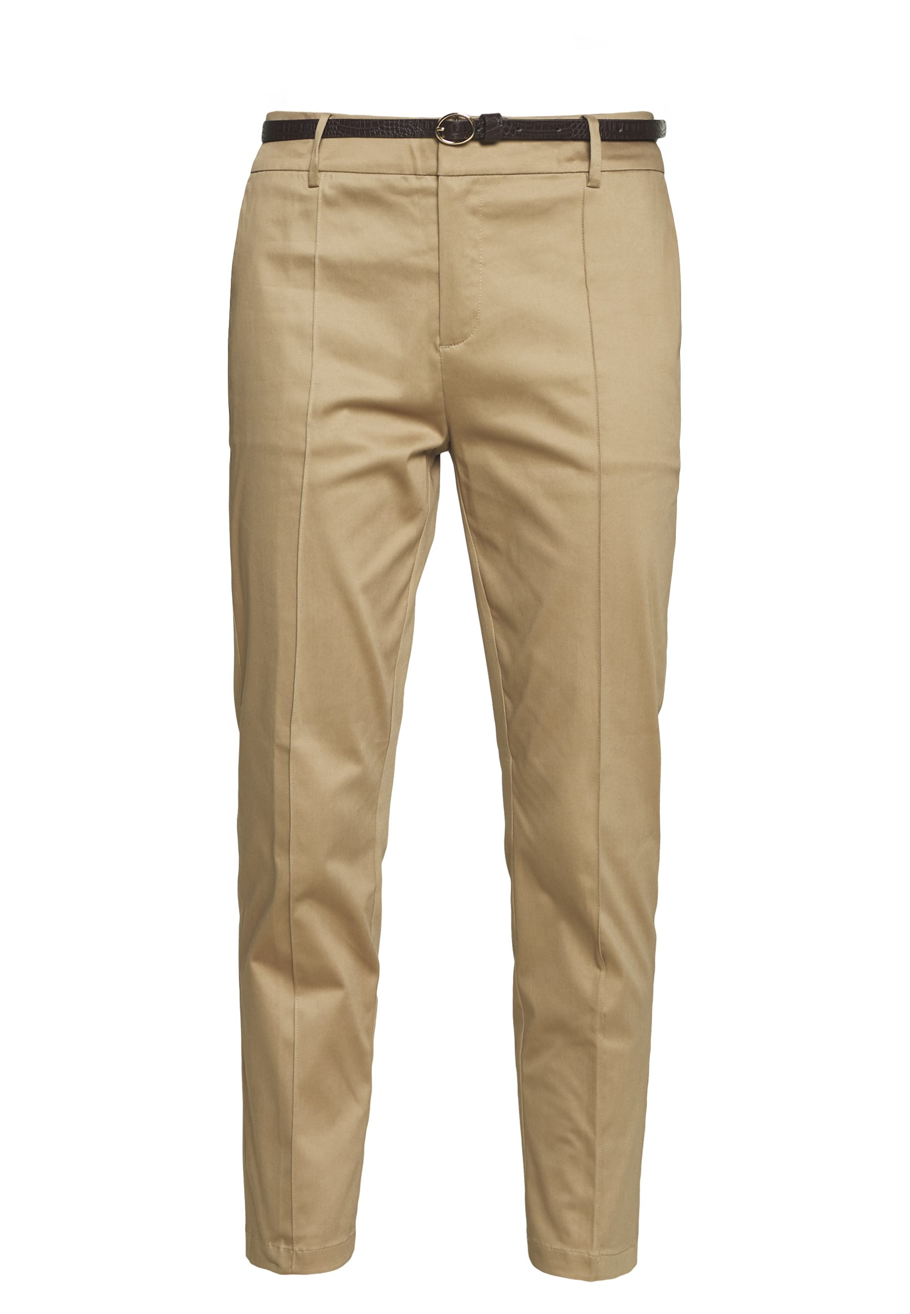 REGULAR FIT WITH STITCHED PLEAT Chino sand