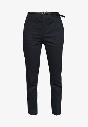 REGULAR FIT WITH STITCHED PLEAT - Chinos - night