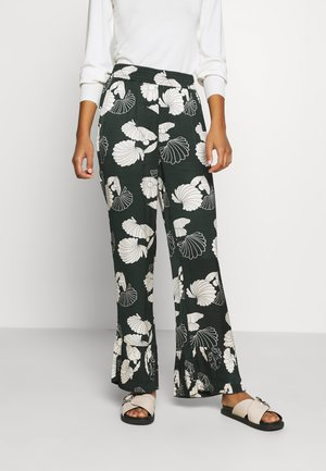 PANTS WITH ALLOVER PRINT - Trousers - combo