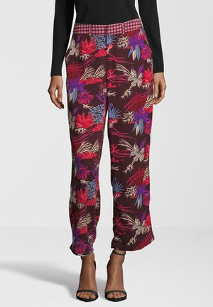 MIT ALLOVER-PRINT - Trousers - red
