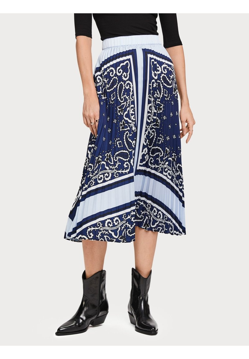 Scotch & Soda - A-line skirt - blue