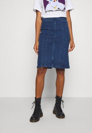 PENCIL SKIRT - Gonna di jeans - indigo