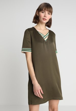 V NECK DRESS  - Kjole - military