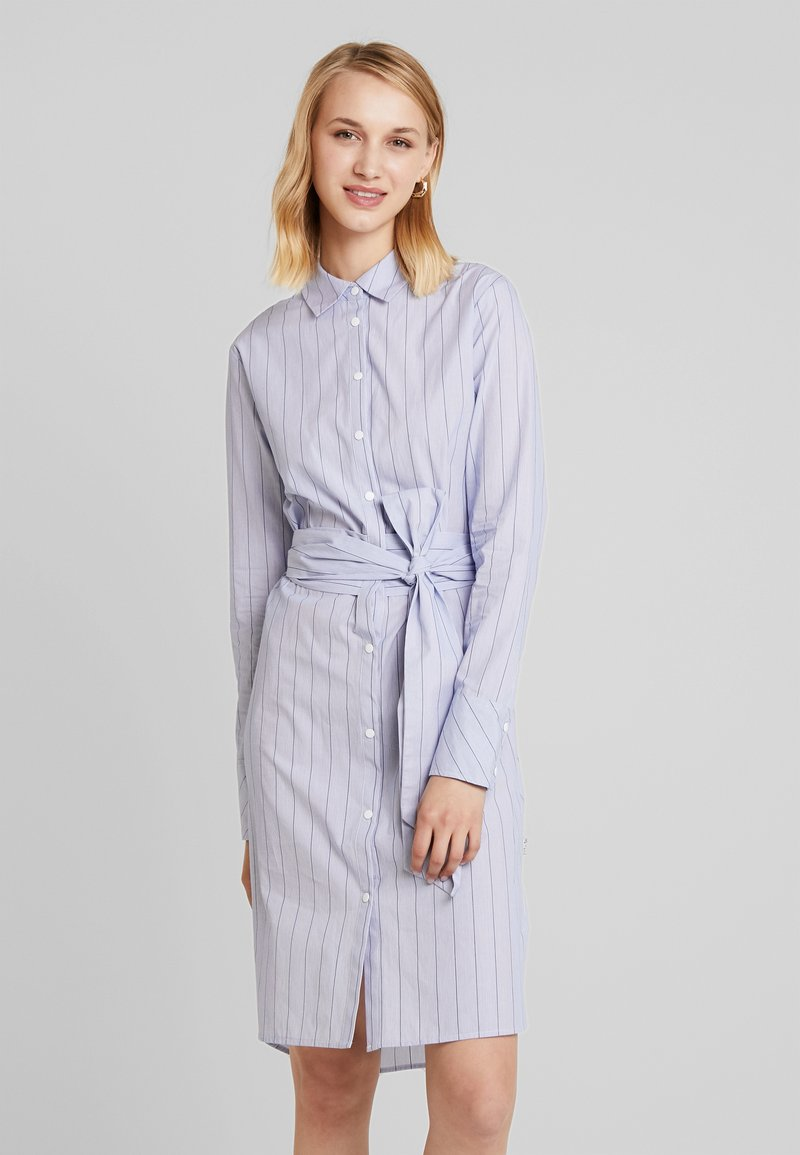 Scotch & Soda - DRESS WITH A WRAPPING STRAP IN WAIST - Maxi dress - light blue