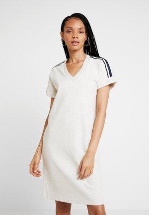 BASIC DRESS WITH SPORTY - Day dress - ecru melange