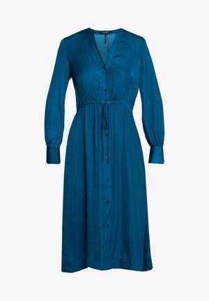 MIDI LENGTH DRESS WITH WAIST CORD - Abito a camicia - sapphire blue