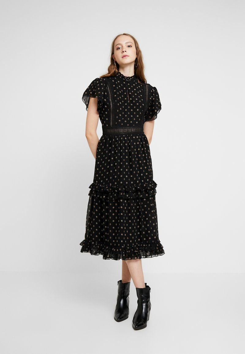 Scotch & Soda - PARTY DRESS WITH RUFFLES AND PANELS - Freizeitkleid - combo