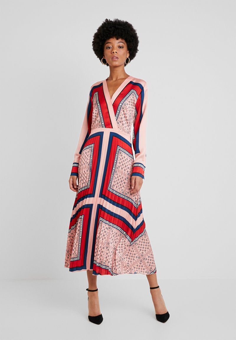 Scotch & Soda - PRINTED PLEATED MIDI LENGTH DRESS - Maxikjole - combo