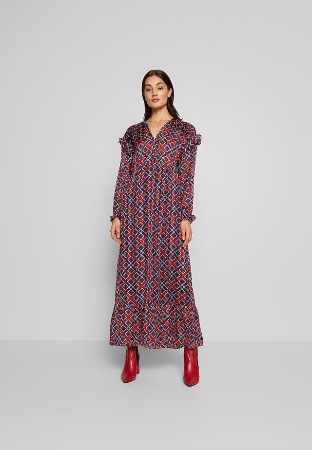 Długa sukienka - red/blue