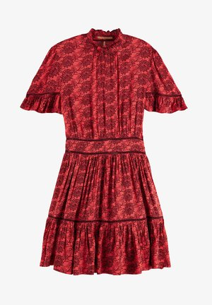 PRINTED DRESS - Day dress - red