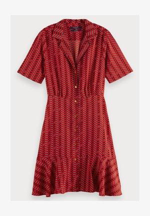 SCOTCH & SODA SHORT SLEEVE PRINTED BUTTON UP MINI DRESS - Robe chemise - combo b