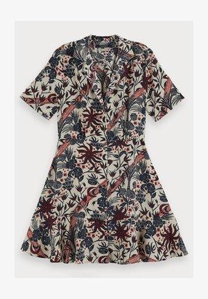 SCOTCH & SODA SHORT SLEEVE PRINTED BUTTON UP MINI DRESS - Shirt dress - combo h