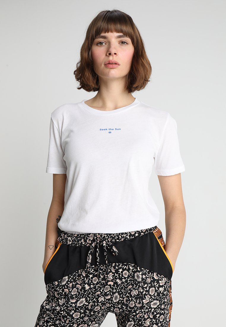 Scotch & Soda - SHORT SLEEVE TEE - T-Shirt print - white